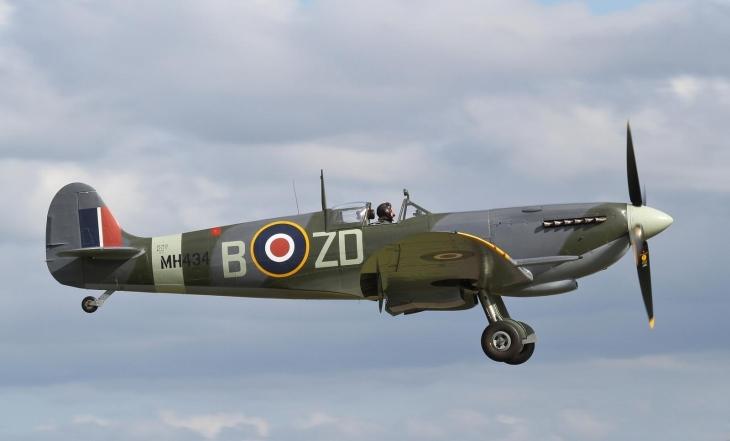 Spitfire on landing approach RAF IWM Duxford